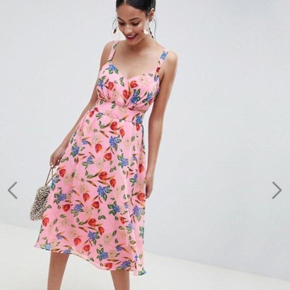 91aeed140da ... Dress Pink Floral Print. ASOS. M 5c469eac3c98441c7b584803.  M 5c469eae1b3294b55f731c05. M 5c469eb0de6f6247db8125e4.  M 5c469eb1aaa5b8e0f96ccd59